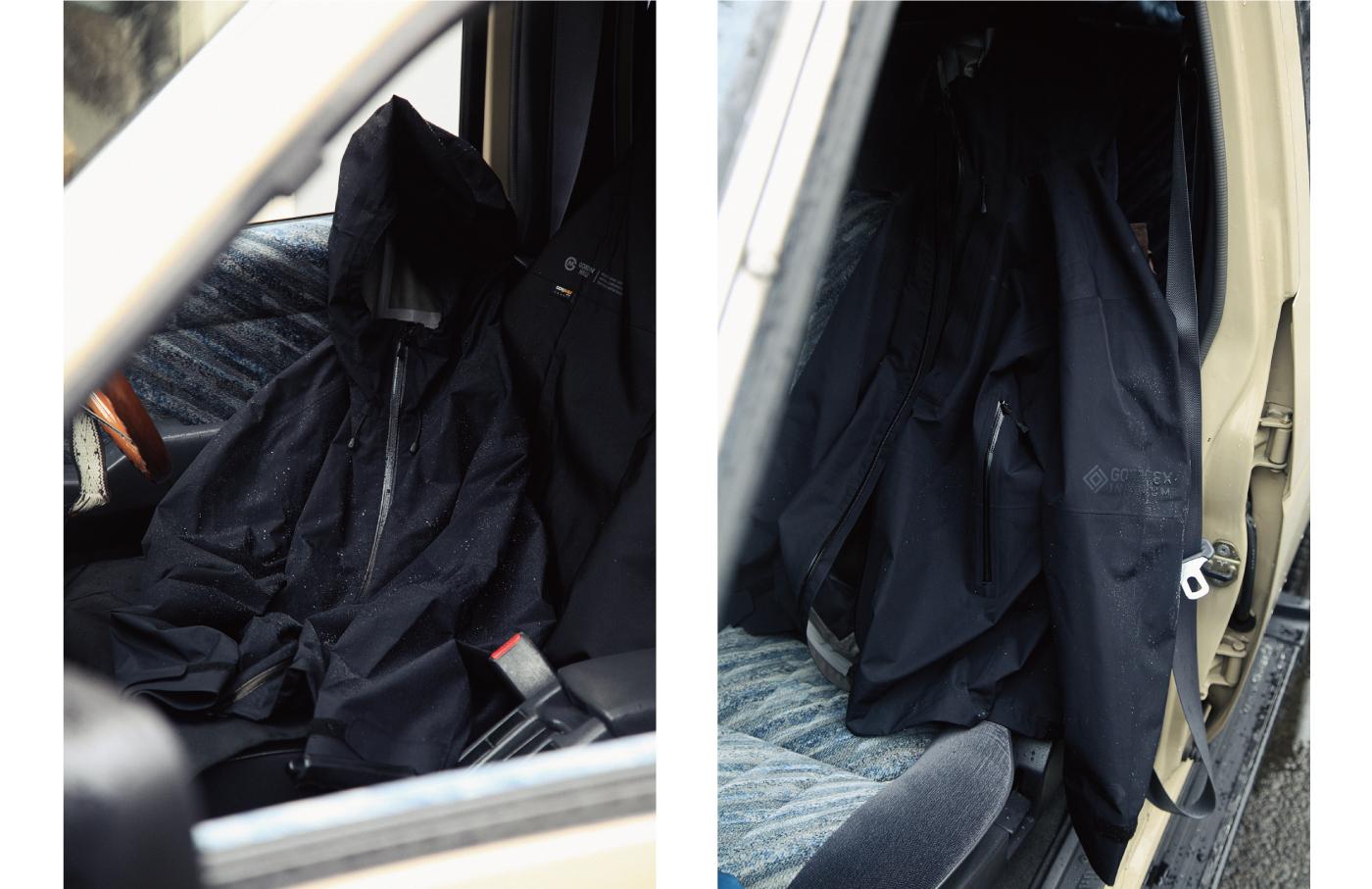 ゴアテックスのジャケットと車